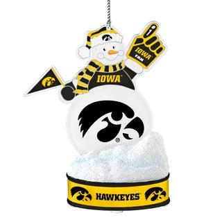 Iowa Hawkeyes LED Snowman Ornament
