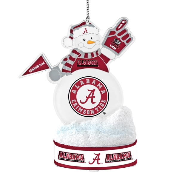 Alabama Crimson Tide LED Snowman Ornament