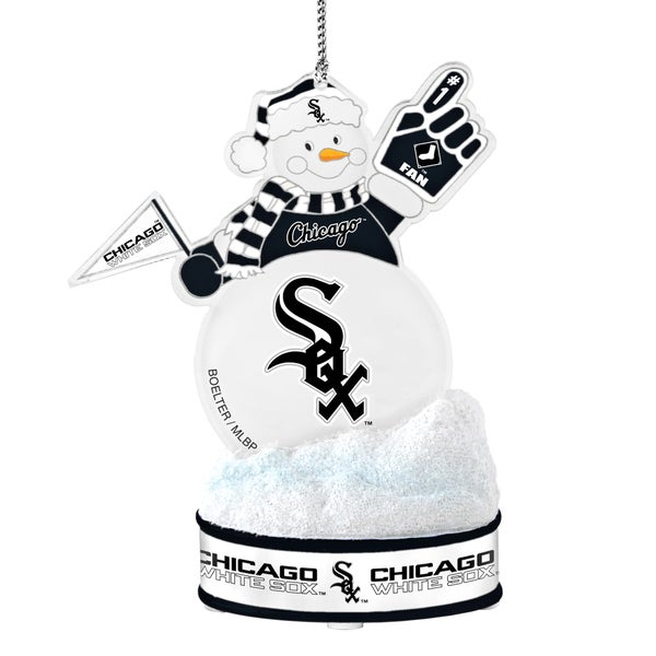 Chicago White Sox LED Snowman Ornament