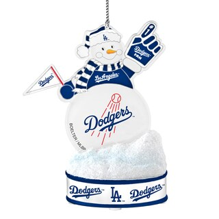 Los Angeles Dodgers LED Snowman Ornament