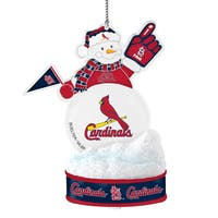 St. Louis Cardinals LED Snowman Ornament