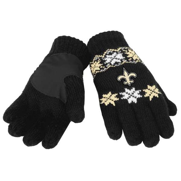 Forever Collectibles NFL New Orleans Saints Lodge Gloves with Padded Palms