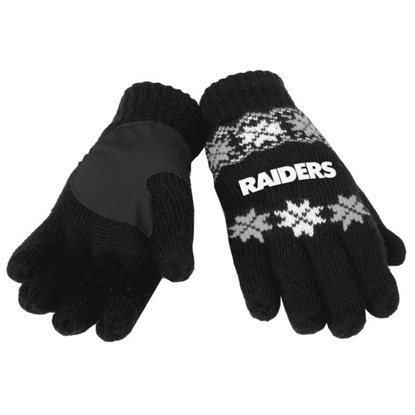 Forever Collectibles NFL Oakland Raiders Lodge Gloves with Padded Palms