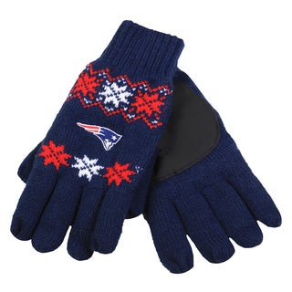 Forever Collectibles NFL New England Patriots Lodge Gloves with Padded Palms