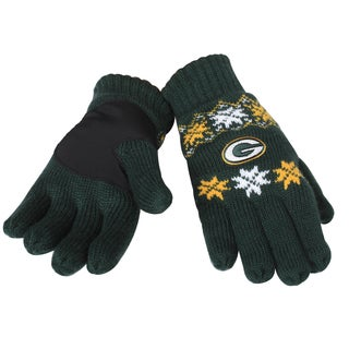 Forever Collectibles NFL Green Bay Packers Lodge Gloves with Padded Palms
