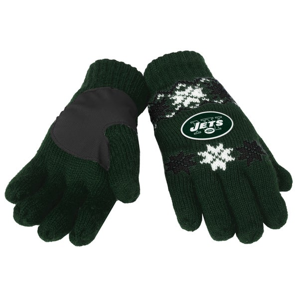 Forever Collectibles NFL New York Jets Lodge Gloves with Padded Palms