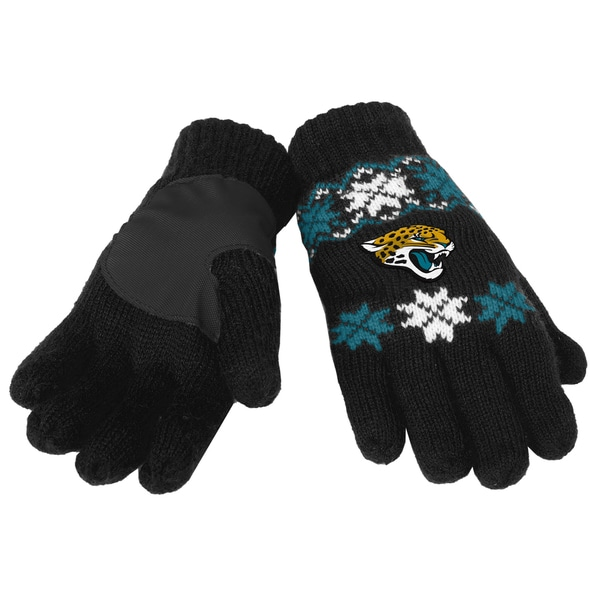 Forever Collectibles NFL Jacksonville Jaguars Lodge Gloves with Padded Palms