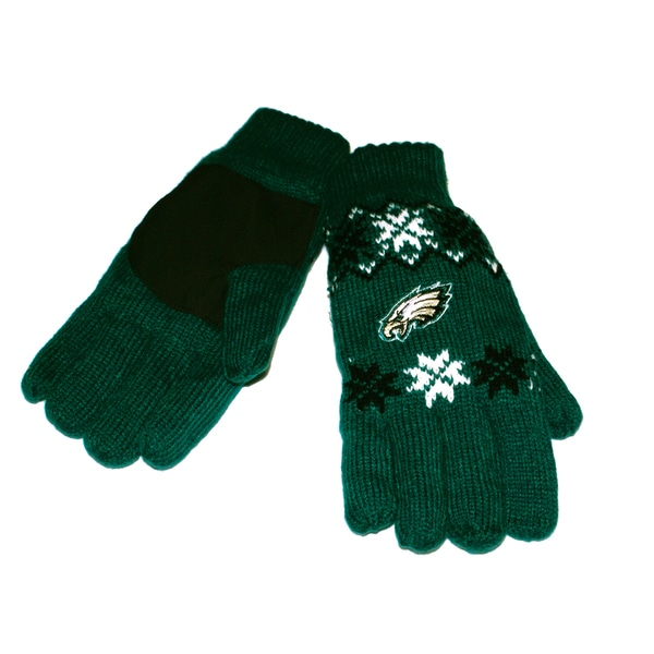 Forever Collectibles NFL Philadelphia Eagles Lodge Gloves with Padded Palms
