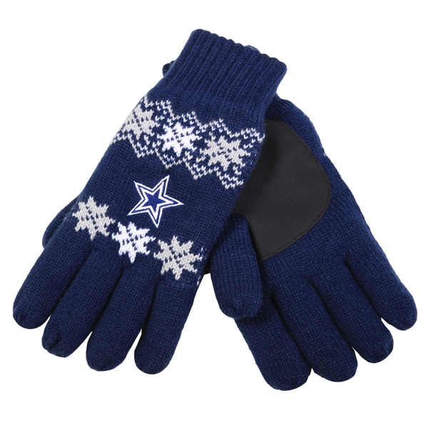 Forever Collectibles NFL Dallas Cowboys Lodge Gloves with Padded Palms