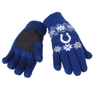 Forever Collectibles NFL Indianapolis Colts Lodge Gloves with Padded Palms