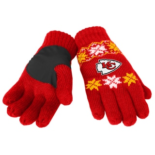 Forever Collectibles NFL Kansas City Chiefs Lodge Gloves with Padded Palms