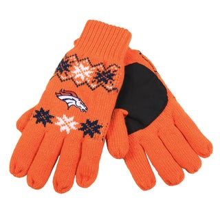 Forever Collectibles NFL Denver Broncos Lodge Gloves with Padded Palms