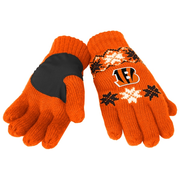 Forever Collectibles NFL Cincinnati Bengals Lodge Gloves with Padded Palms