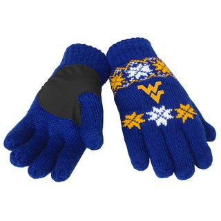 Forever Collectibles West Virginia Mountaineers Lodge Gloves with Padded Palms