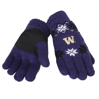 Forever Collectibles Washington Huskies Lodge Gloves with Padded Palms