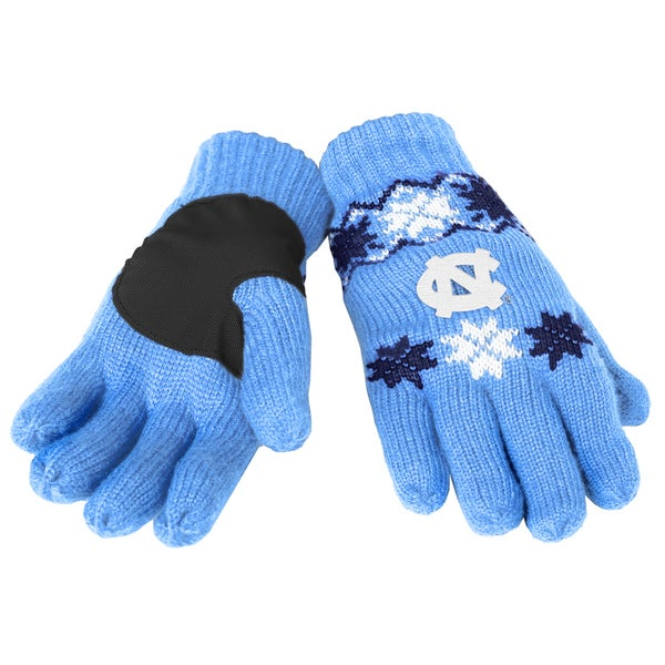 Forever Collectibles North Carolina Tar Heels Lodge Gloves with Padded Palms