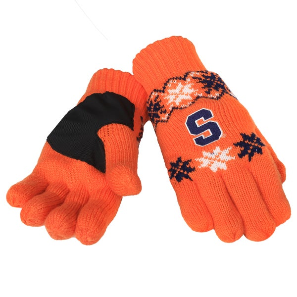 Forever Collectibles Syracuse Orangemen Lodge Gloves with Padded Palms