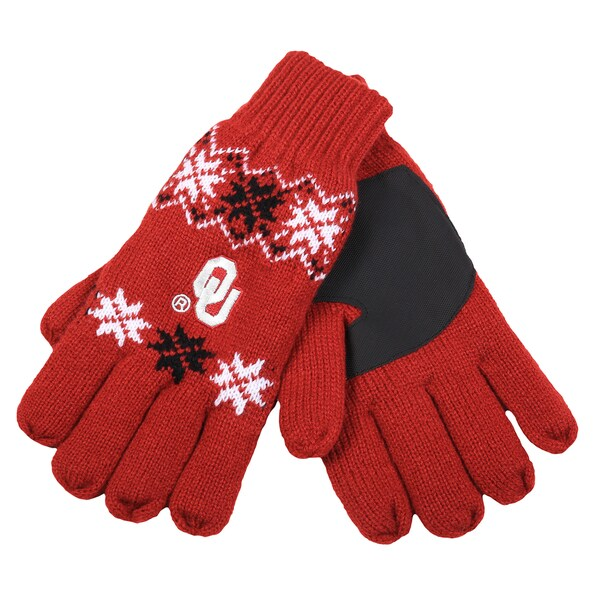 Forever Collectibles Oklahoma Sooners Lodge Gloves with Padded Palms