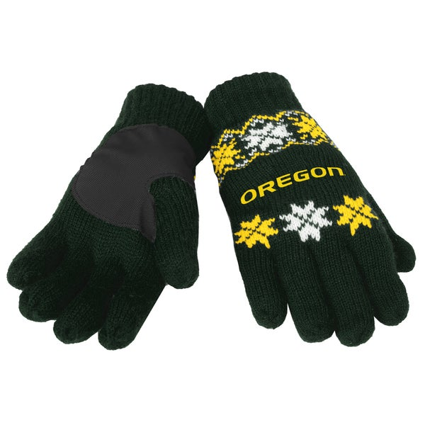 Forever Collectibles Oregon Ducks Lodge Gloves with Padded Palms