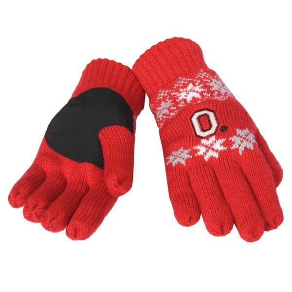 Forever Collectibles Ohio State Buckeyes Lodge Gloves with Padded Palms