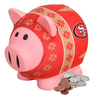 Forever Collectibles NFL San Francisco 49ers Ugly Sweater Piggy Bank