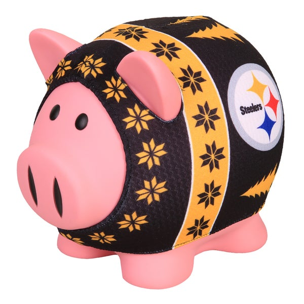 Forever Collectibles NFL Pittsburgh Steelers Ugly Sweater Piggy Bank