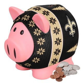 Forever Collectibles NFL New Orleans Saints Ugly Sweater Piggy Bank