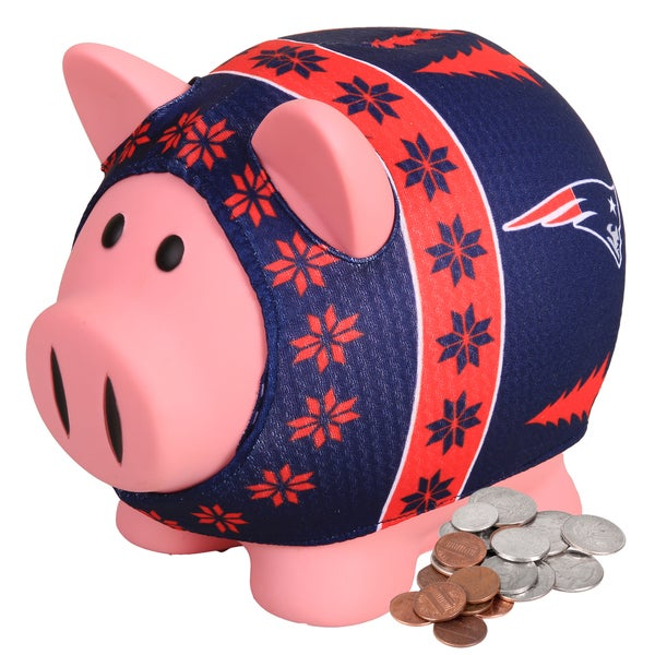 Forever Collectibles NFL New England Patriots Ugly Sweater Piggy Bank