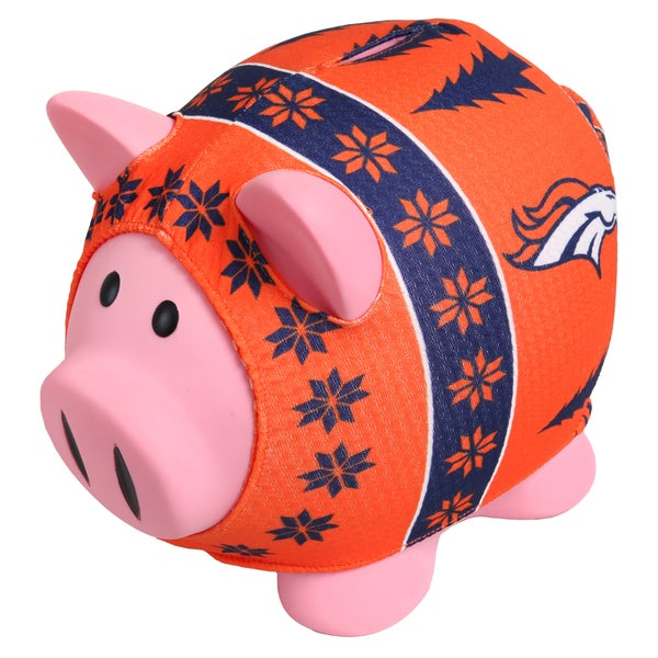 uk availability 929bc 3113f Forever Collectibles NFL Denver Broncos Ugly Sweater Piggy Bank