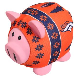 Forever Collectibles NFL Denver Broncos Ugly Sweater Piggy Bank