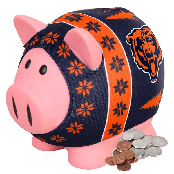 Forever Collectibles NFL Chicago Bears Ugly Sweater Piggy Bank