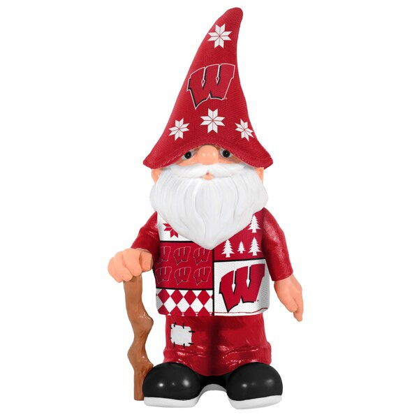 Forever Collectibles Wisconsin Badgers Real Ugly Sweater Gnome