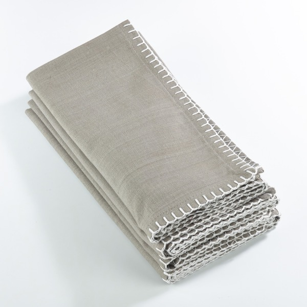 Whip Stitched Design Napkin (Set of 4)
