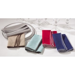 Link to Whip Stitched Design Napkin (Set of 4) Similar Items in Table Linens & Decor