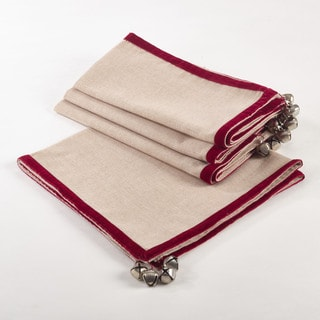 Velvet Trimmed Design Jingle Napkin (Set of 4)