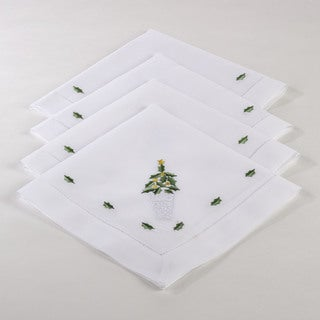 Hemstitched Holiday Napkin (Set of 4)