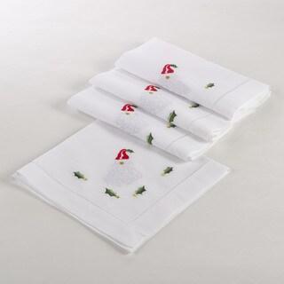 Embroidered Santa Hemstitched Napkin (Set of 4)