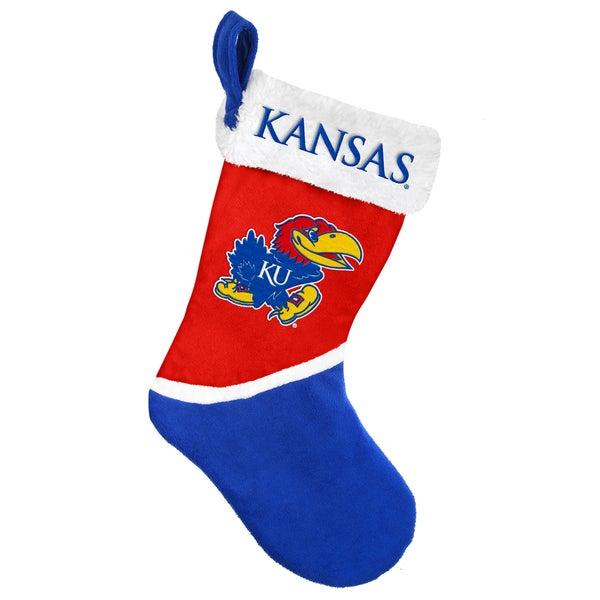 Forever Collectibles Kansas Jayhawks NCAA 2015 Basic 17-inch Stocking