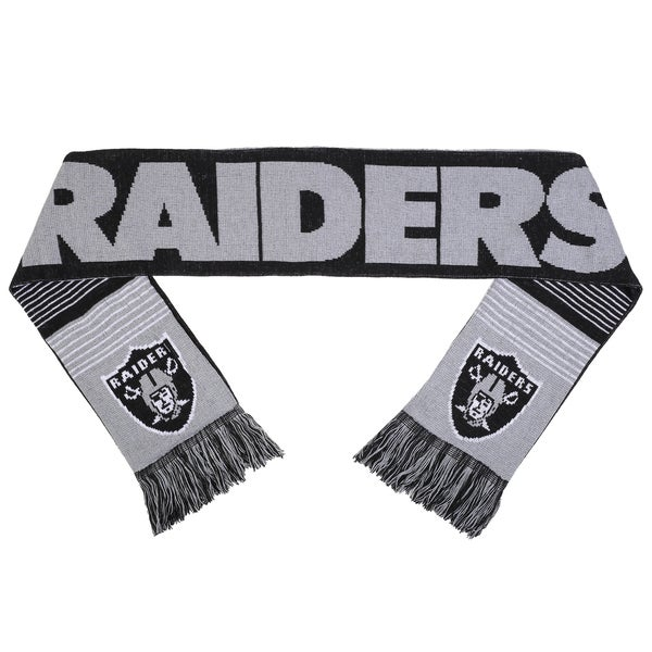 Forever Collectibles NFL Oakland Raiders Split Logo Reversible Scarf