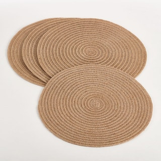 "Natural Design Placemat (Set of 4) - 15""D"