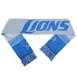 Forever Collectibles NFL Detroit Lions Split Logo Reversible Scarf
