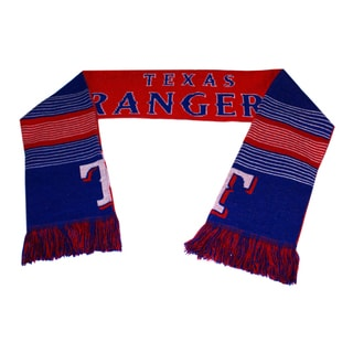 Forever Collectibles MLB Texas Rangers Split Logo Reversible Scarf
