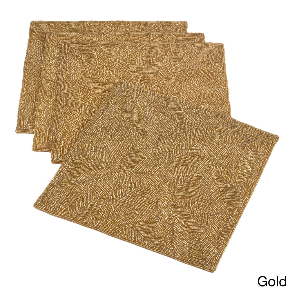 Shop Beaded Design Placemat (Set of 4) - Overstock - 10694001