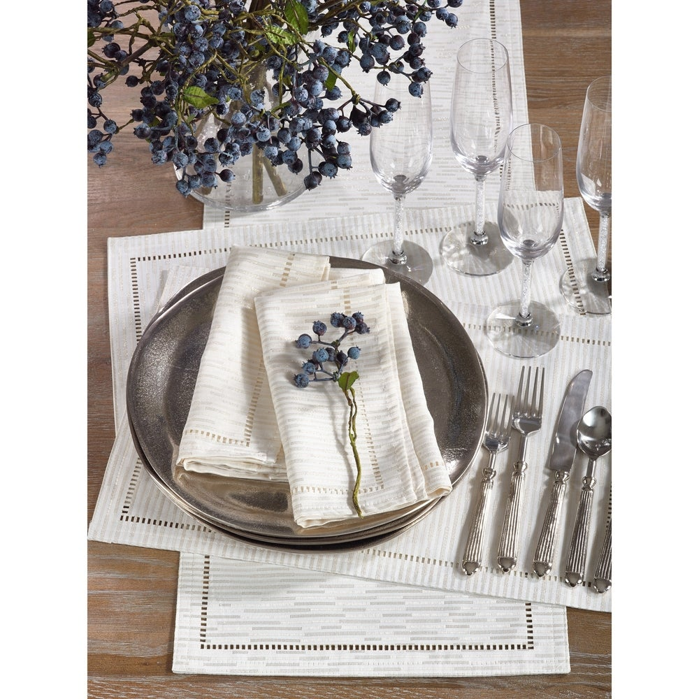 Shop Hemstitched Design Placemat (Set of 12) - Overstock - 10694003