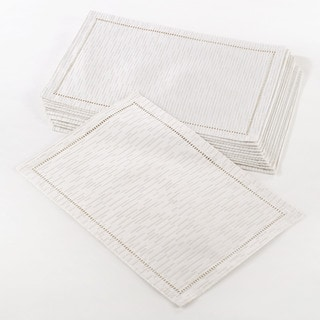 Hemstitched Design Placemat (Set of 12)