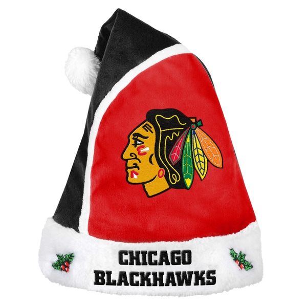 Forever Collectibles NHL Chicago Blackhawks 2015 NHL Polyester Santa Hat