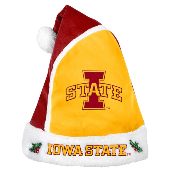 Forever Collectibles Iowa State Cyclones 2015 NCAA Polyester Santa Hat