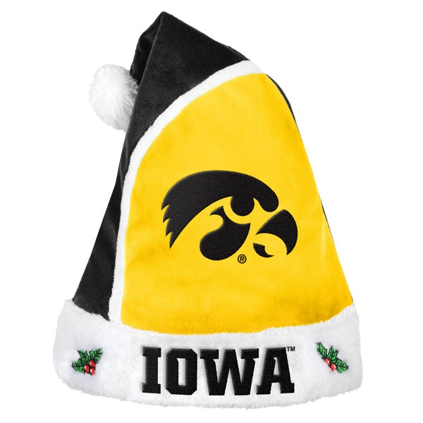 Forever Collectibles Iowa Hawkeyes 2015 NCAA Polyester Santa Hat
