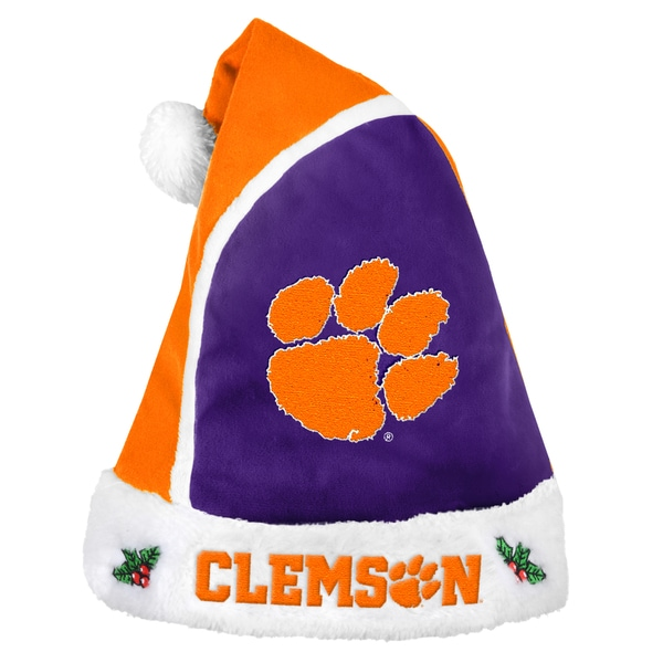Forever Collectibles Clemson Tigers 2015 NCAA Polyester Santa Hat