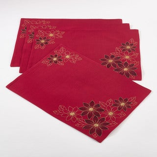 Poinsettia Design Placemat (Set of 4)